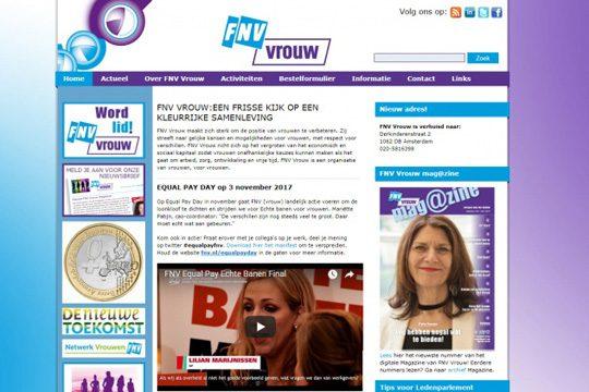 website FNV vrouw