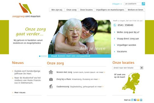 Website Sint Maarten Zorggroep