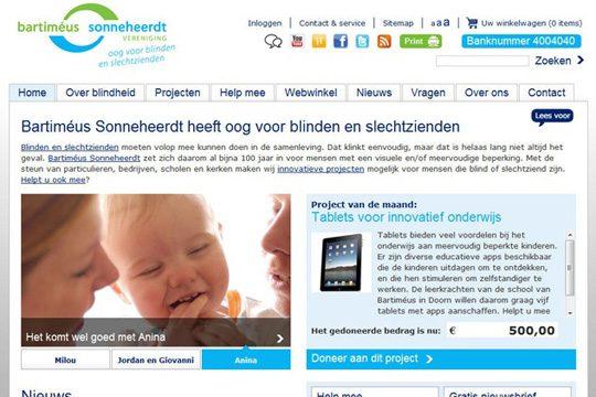 Website Steun Bartimeus